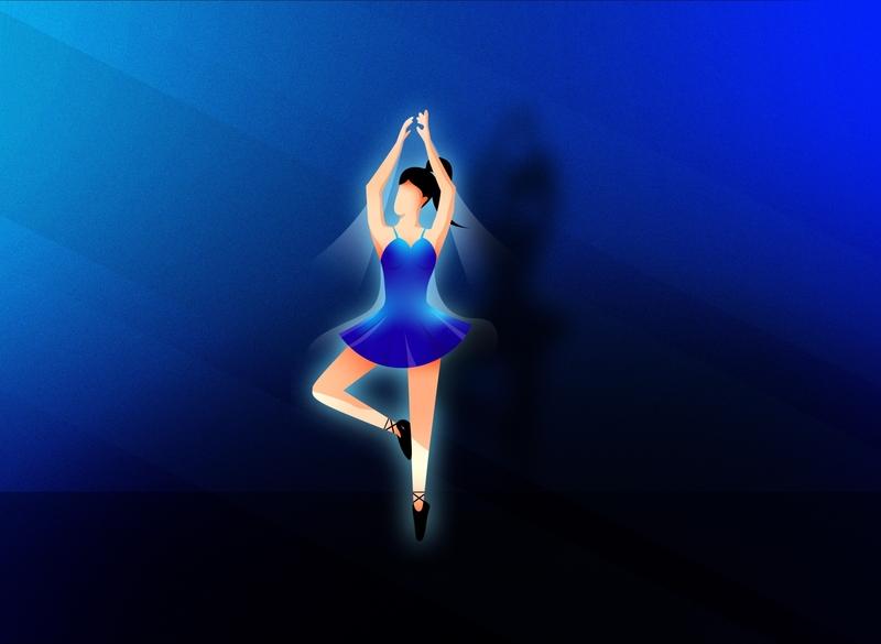 Ballet girl characterdesign ballerina girl illustration grainy artwork adobe illustrator landscape vector illustrator illustration ballet
