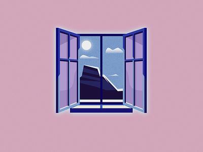 Views grainy landscape artwork adobe illustrator vector illustrator design illustration viewfinder mountains windows views