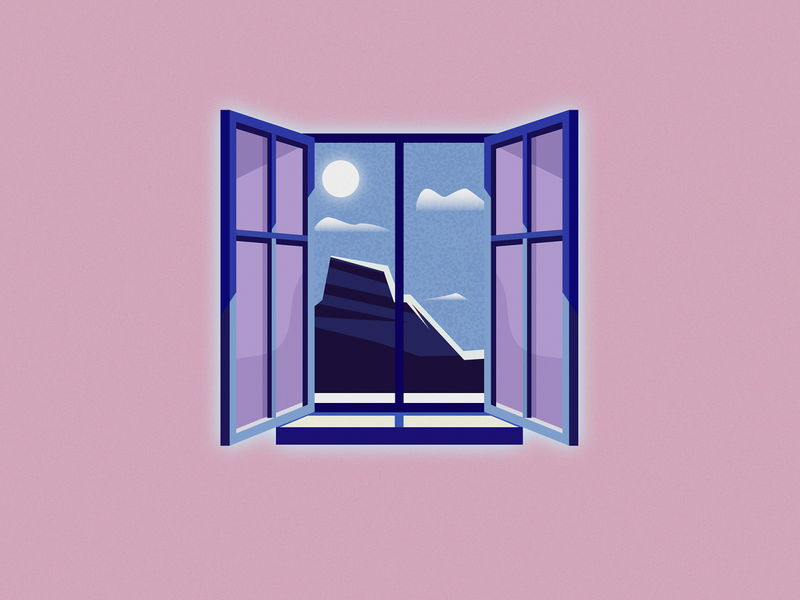 Views grainy landscape artwork adobe illustrator vector illustrator design illustration viewfinder mountains windows views