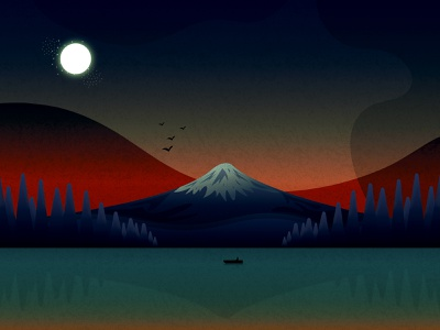 Spooky Landscape illustrator adobe illustrator vector