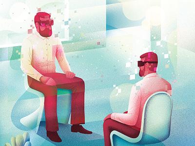 Virtual Reality vr virtualreality design editorial photoshop character illustrator illustration