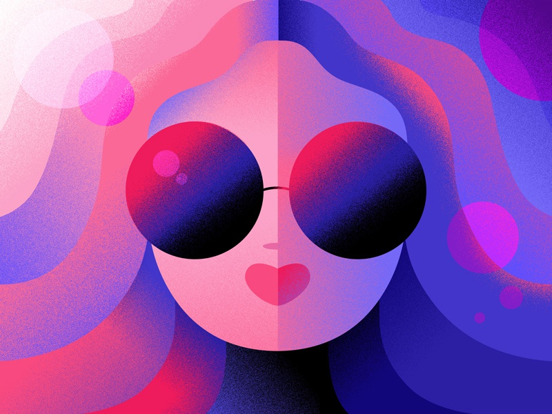 Sunglasses Out shapes bold characterdesign graphic animation women illustrator photoshop vectors vectorart illustration the100dayproject