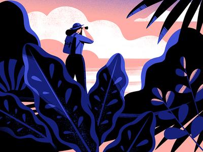 Weekend in sight explorer illustrator plants characterdesign animation digitalillustration the100dayproject illustration
