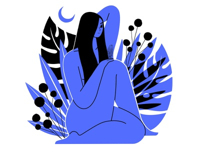 Woman tee teeshirt woman plants screenprint 2colour apparel illustration