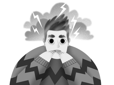National Stress Awareness Day emotions monochrome spotillustration doodle mentalhealth character animation illustrator characterdesign illustration nationalstressawarenessday stress