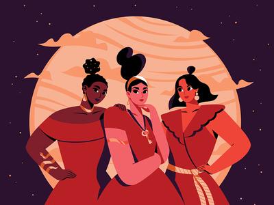 Hecate vectors women in illustration women mythology magic witch animation womenwhodraw folktaleweek character illustration