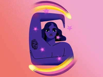 Woman with comets vectors drawinyourstyle comets cosmic woman