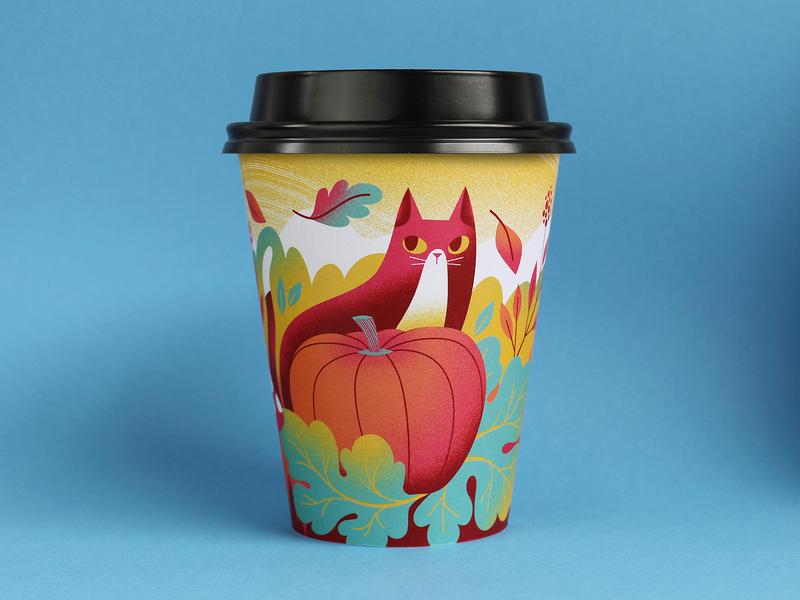Drip for Drip coffee cup digital art vector artist illustrator design art illustration art illustrated cup coffee cup october autumn coffee illustration