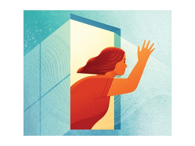 Which? Magazine - Waving googbye to Windows 7 contemporaryillustration digital illustration vector art illustrator magazine tech windows computing editorial art editorial illustration