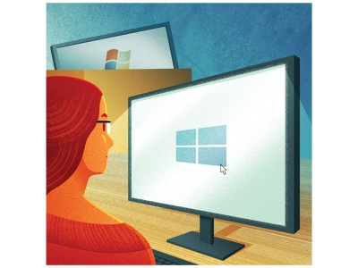 Which? Magazine - Retiring your old computer spot illustration magazine illustration tech windows computer vectors illustrator illustration editorial art