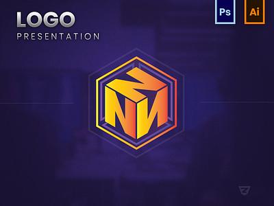 N Logo Concept web vector icon illustration web design logo design digital art branding logo graphic design