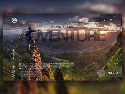 Website UI - Adventure web design ui desgin ux design graphic design