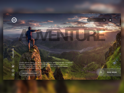 Website UI - Adventure web design ui desgin ux design graphic design