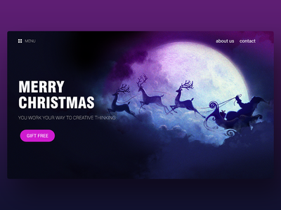 Website UI - Merry Christmas web design ux design ui design graphic design
