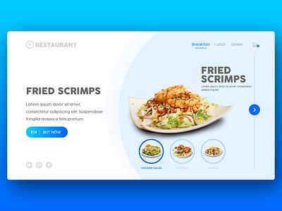Website UI - Restaurant web design uiux graphic design