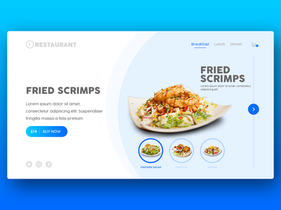 Website UI - Restaurant web design uiux graphic design