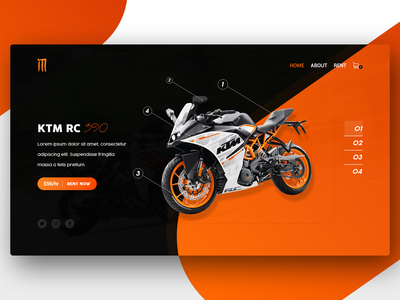 Website UI - Rent a Motorbike web design uiux graphic design