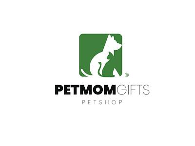 Pet Mom Gifts icon typography vector logo design design logo digital art branding graphic design