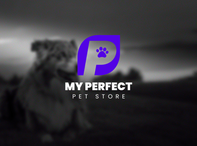 My Perfect Pet Store icon typography logo illustration logo design digital art branding graphic design