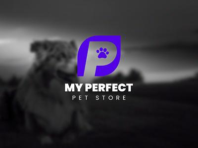 My Perfect Pet Store icon typography logo illustration logo design digital art branding graphic design