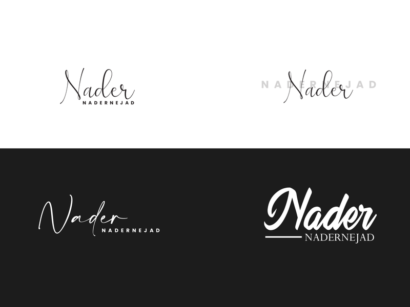 Nader Nadernejad calligraphy typography logo illustration digital art design graphic design