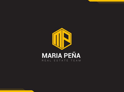Maria Pena realestate icon typography vector logo design logo branding digital art graphic design