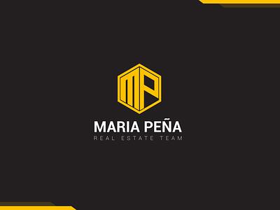 Maria Pena realestate icon typography vector logo design logo branding digital art graphic design