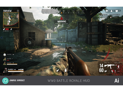 World War 2 Battle Royale HUD Concept (2019)