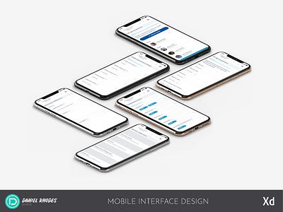 Mobile Interface Design - 5 Phone Mockup (2019)