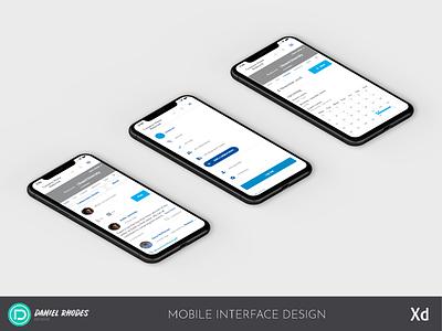 Mobile Interface Design - 3 Phone Mockup (2019)