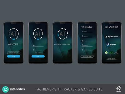Achievement Tracker with Games Suite - Login Flow (2018)