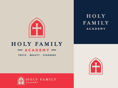 HFA logo // Rd 1 church typography logo identity