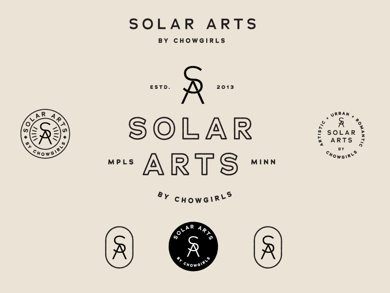 Solar Arts by CG badge rebrand logo