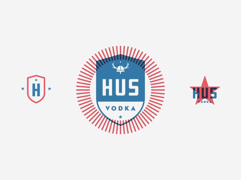HUS booze branding identity logo