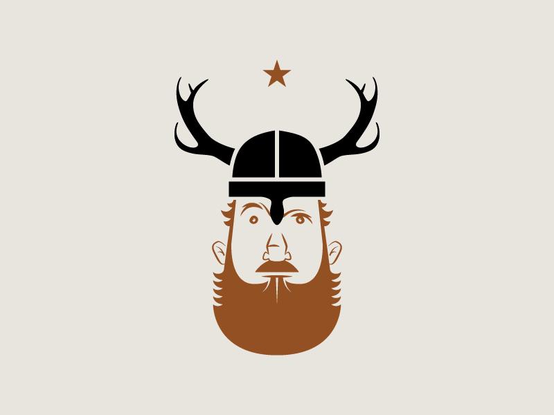 SV Bourbon character viking identity logo bourbon booze label