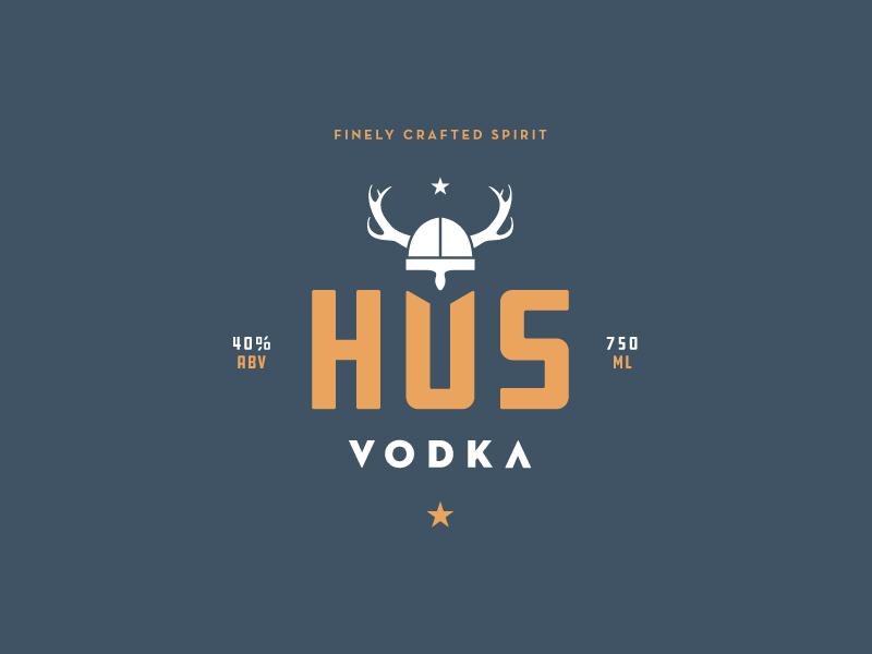 HUS 3 booze branding identity logo