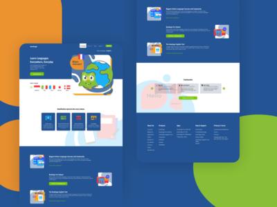 Duolingo Website Redesign