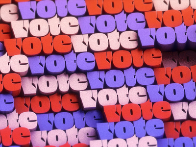 VOTE 🗳️ loop 3d text oh no type animation motion motion design vote2020 cinema4d 3d 3d type animated type animated typeface voter turnout democracy november3rd november3 nov3 election2020 election vote