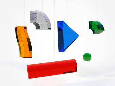 Interrobang shiny rendering render animated logo logoanimation google slide interrobang motion design motion translucent mobile cinema4d c4d 3d google