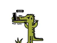 鳄鱼爱自拍