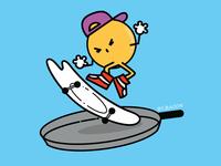 煎蛋的滑板运动