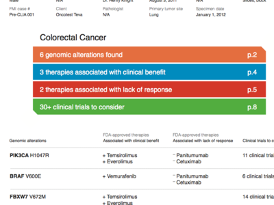 FoundationOne cancer report