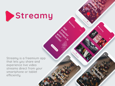 Visual identity and UI/UX for video streaming app
