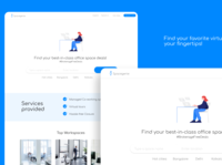 Virtual office finder - Web design visual identity and UI/UX