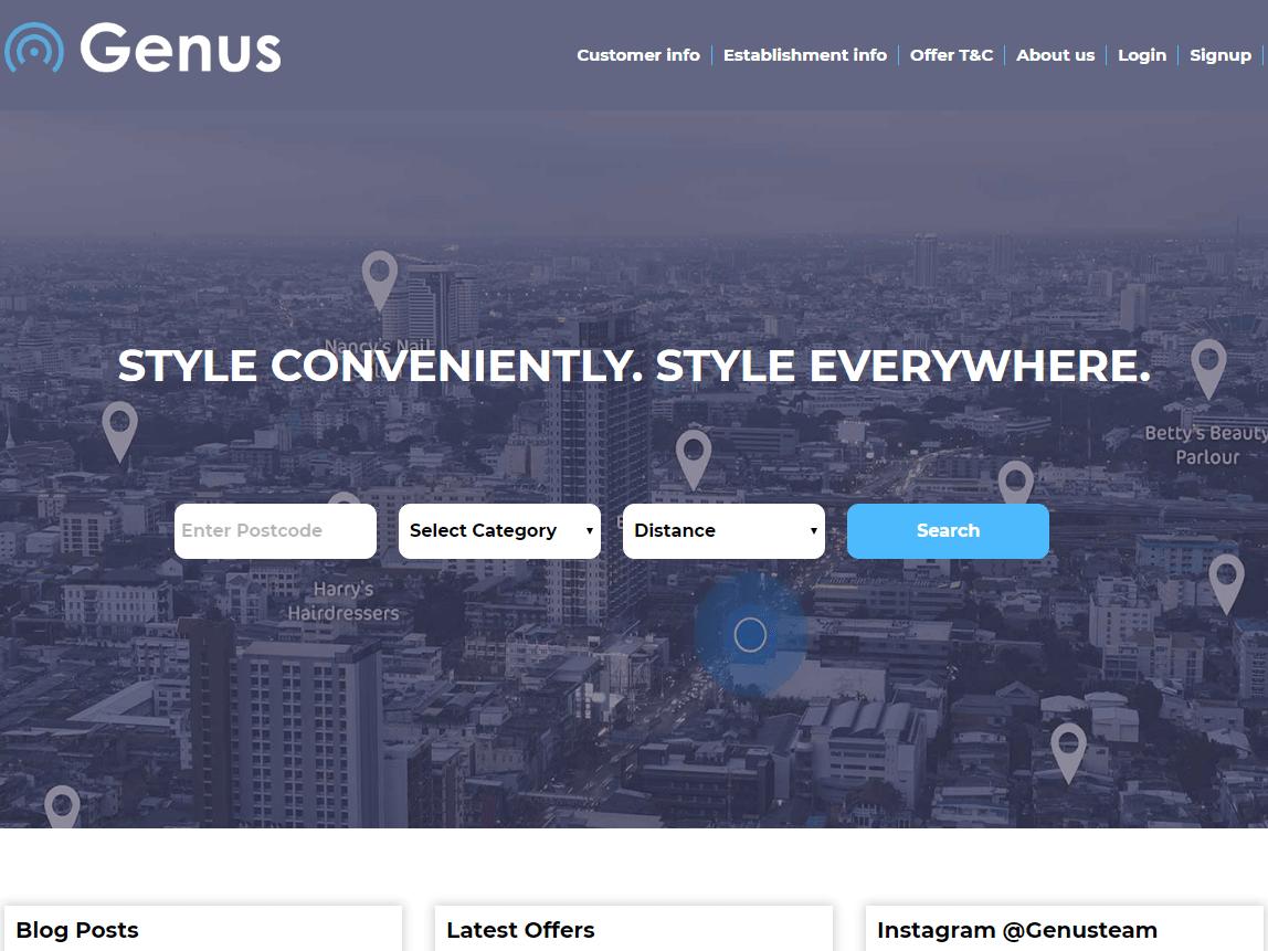 Gogenus - Find Nearby Hair & Beauty Service web design beauty service website website development php web development website design website