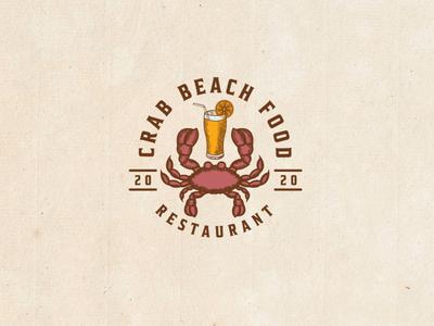 Crab Logo sea juice logo beach juice juice logo carb beach logo beach restaurant logo sea restaurant logo sea logo beach logo crab logo