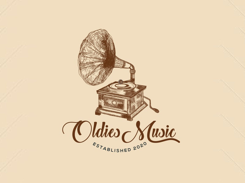 Oldies Music handmade music logo art logo madehand logo old music logo oldies music logo oldies music music logo music