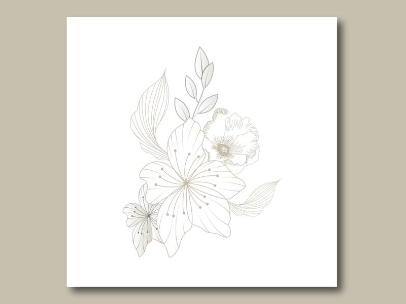Flower Art... flower flower line art vector line art line art flower logo vector flower