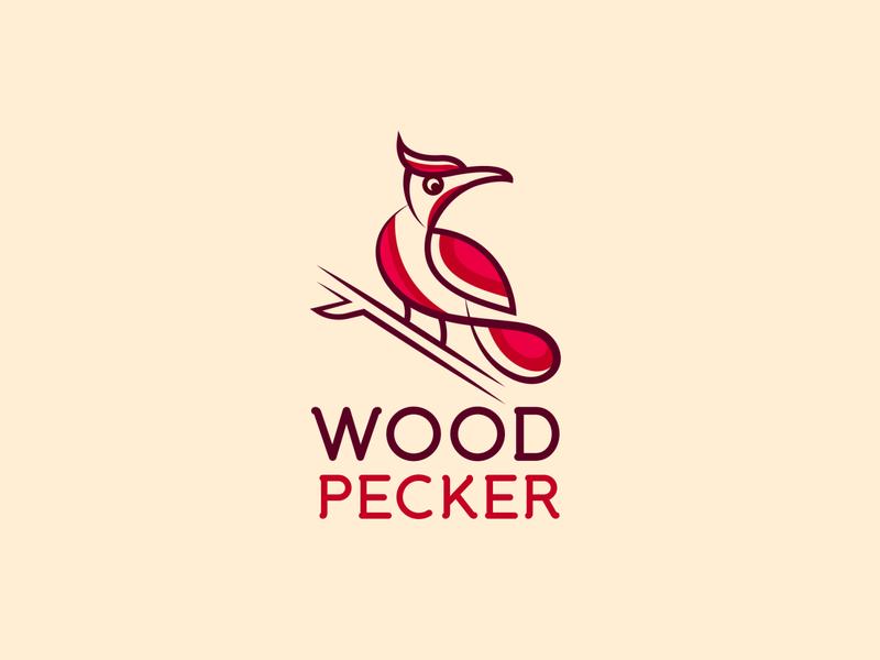 Woodpecker Logo ! woodpecker line art logo woodpecker line art logo creative logo branding branding logo bird birds logo line art logo woodpecker  line art woodpecker  line art woodpecker