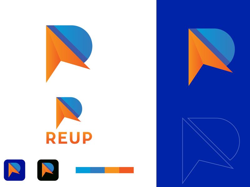 R Logo arrow logo minimal logo r text logo logo inspiration app brandidentity simple logo vector ux ui web logo branding logo branding logo design logo r logo